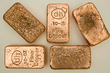 10 Ounce Copper Bullion Bars