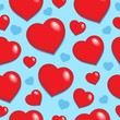 Seamless background with hearts 1