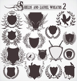Shields and Laurel wreaths - set 2