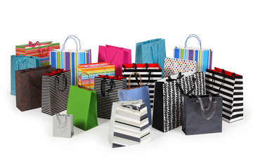 Many shopping bags