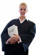 Anwältin mit Gesetzbuch