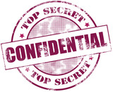 Confidential stamp illustration