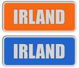 2 Sticker orange blau rel IRLAND