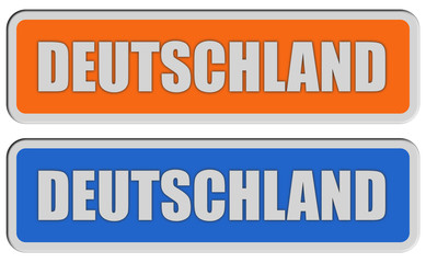 2 Sticker orange blau rel DEUTSCHLAND