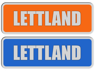 2 Sticker orange blau rel LETTLAND