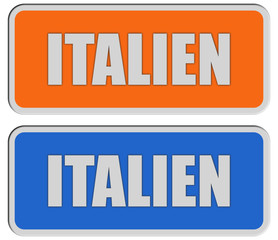 2 Sticker orange blau rel ITALIEn