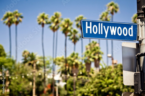 Leinwanddruck Bild Hollywood sign in LA