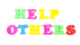 help others written in fridge magnets