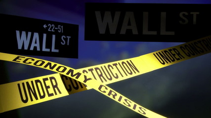 Wall Street - under construction, economy crisis
