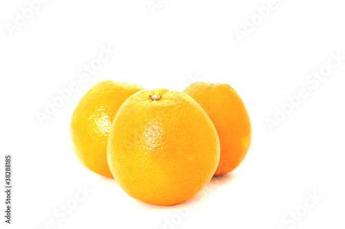 orange isolated on a white background .