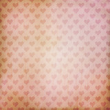 Fototapety vintage background with hearts