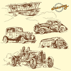old time-hand drawn collection