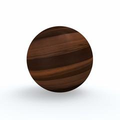 Holzkugel - Eiche Moor