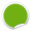 Blank vector green sticker