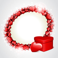 Valentine's day vector background with gift