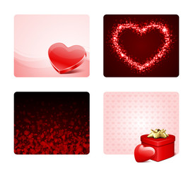 Valentine's day banners or backgrounds set