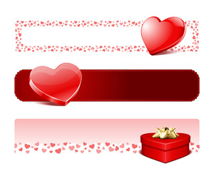 Valentine's day banners or headers set