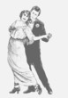 Man and woman dance a tango