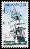 Postage stamp Denmark 1993 Danmark, Training Ship poster