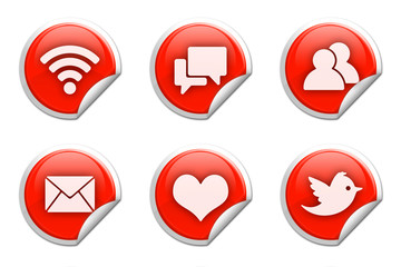 Social network stickers