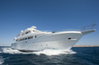 Luxury motor yacht at sea - 38295141