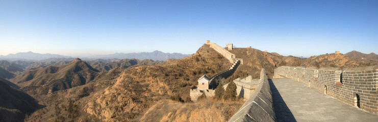 Great Wall of China / Chinesische Mauer - Panorama