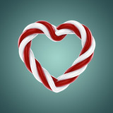 Heart shaped candy , 3d illustration