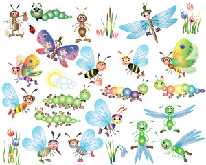 Set insects ,cartoon
