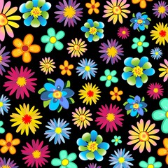 Primavera Fiori Sfondo-Springtime Flowers Background-Vector