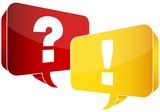 Speech Bubbles Question & Answer Red/Yellow