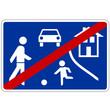Verkehrsschild - 325 Ende  verkehrsberuhigter Bereich