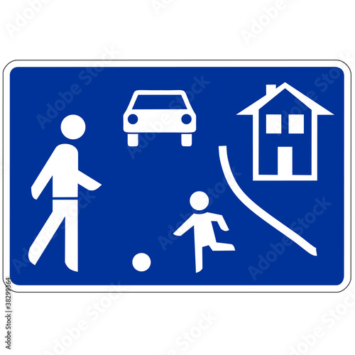 Verkehrsschild - 325 Beginn verkehrsberuhigter Bereich