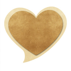 Heart shape  bubble talk  recycled papercraft