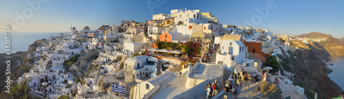 SunSet on Oia Village, Santorini Island, Greece