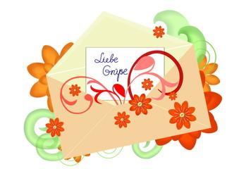 Briefumschlag (Liebe Grüße)