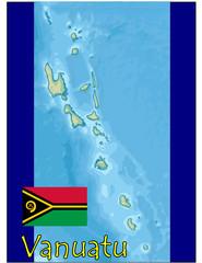 vanuatu africa map flag emblem
