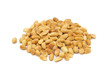 Pile of Roasted Peanuts Isolated on White Background