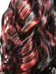 curly highlight hair texture background