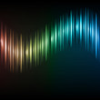 Abstract colorful waveform vector background