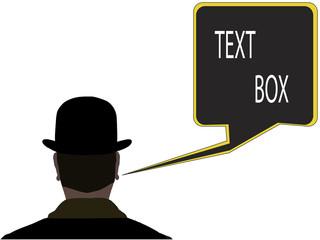 stick  text box