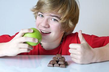 Apfel oder Schokolade - Entscheidung