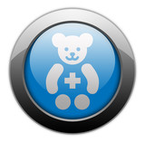 "Metallic Orb Button ""Pediatrics"""