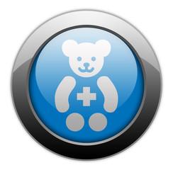 """Metallic Orb Button """"Pediatrics"""""""