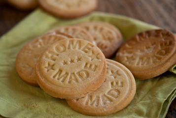 Stamped home made cookies
