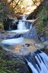 秋の西沢渓谷 七ツ釜五段の滝