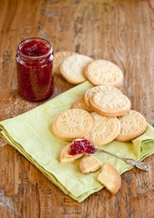 Home made cookies and jam