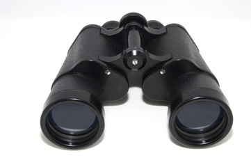 big black army binoculars on a white background