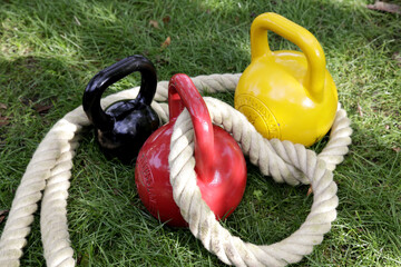 Kettlebelts mit heavy rope