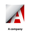 Logo label letter A # Vector
