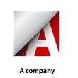 Logo label letter A # Vector